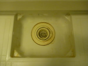 東京都目黒区碑文谷浴室排水口クリーニング前